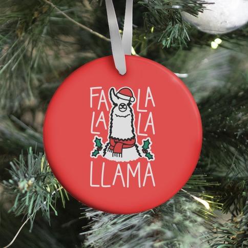 Falalala Llama Ornament