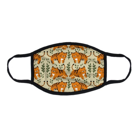 Chubby Tiger Pattern Flat Face Mask