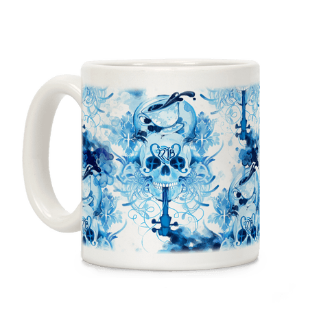 221B Sherlock Skull Watercolor Coffee Mug