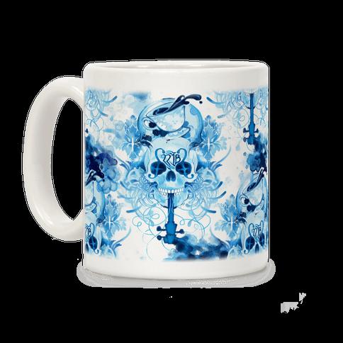 221B Sherlock Skull Watercolor Coffee Mug