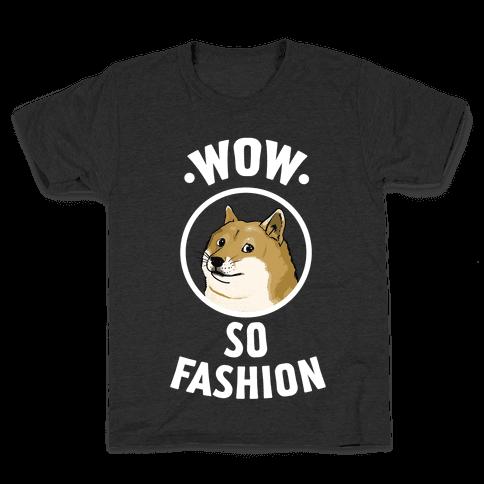 Doge: Wow! So Fashion! Kids T-Shirt
