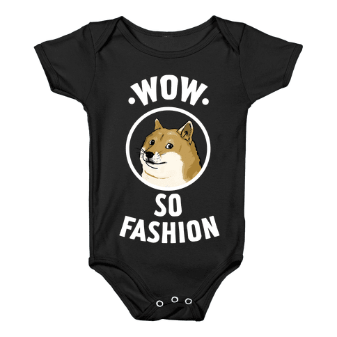 Doge: Wow! So Fashion! Baby Onesy
