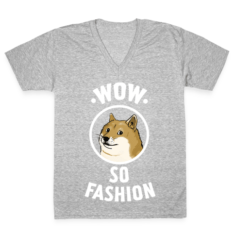 Doge: Wow! So Fashion! V-Neck Tee Shirt