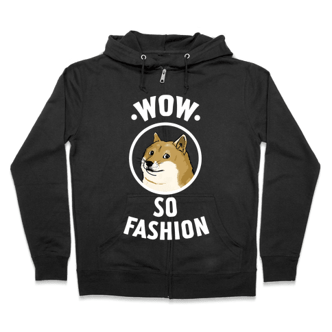 Doge: Wow! So Fashion! Zip Hoodie