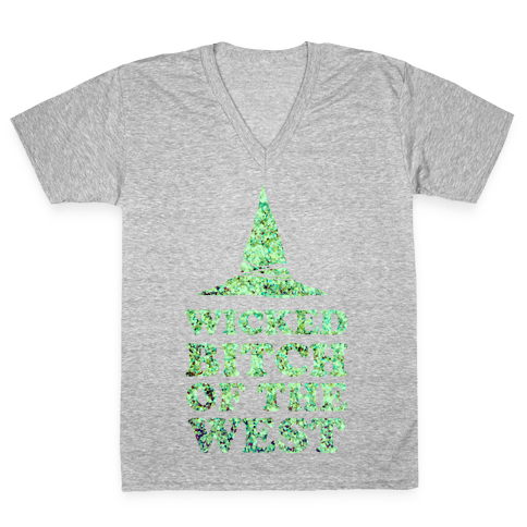 Wicked Bitch of the West V-Neck Tee Shirt