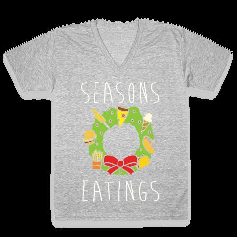 Season's Eatings V-Neck Tee Shirt