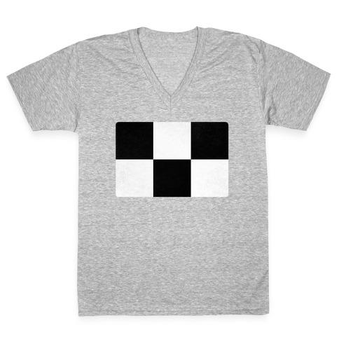 Yume Nikki Sweater Pattern V-Neck Tee Shirt