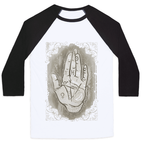 Palm Reading Baseball Tee
