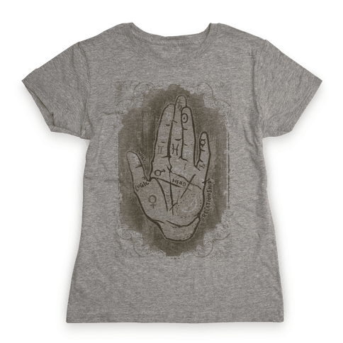 Palm Reading Womens T-Shirt