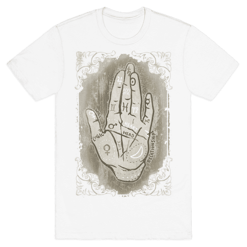 Palm Reading Mens T-Shirt