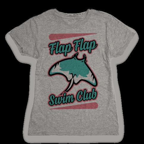 Flap Flap Swim Club Womens T-Shirt
