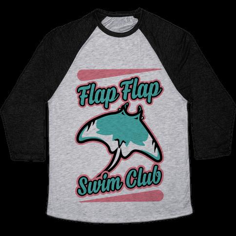 Flap Flap Swim Club Baseball Tee