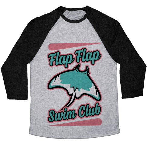 Flap Flap Swim Club Baseball Tee