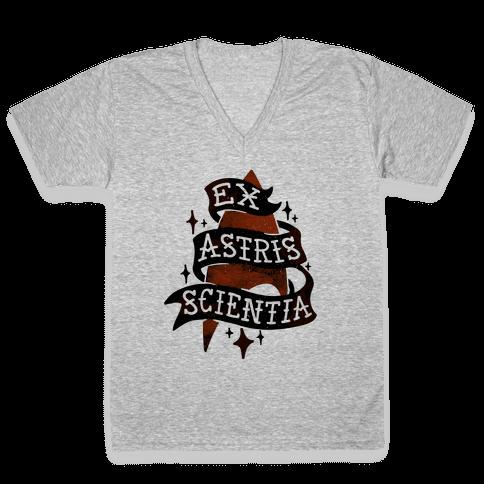 Ex Astris Scientia V-Neck Tee Shirt