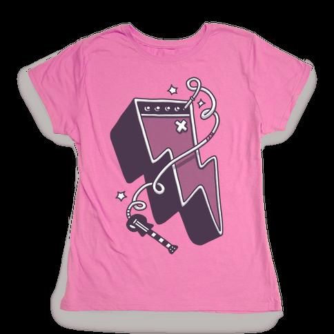 Lightning Amp Womens T-Shirt