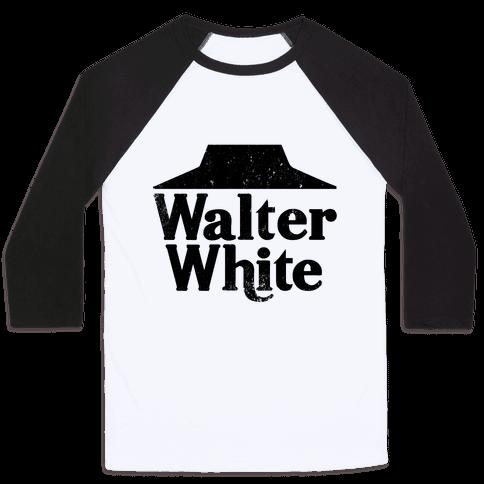 Walter White Roof Pizza Baseball Tee