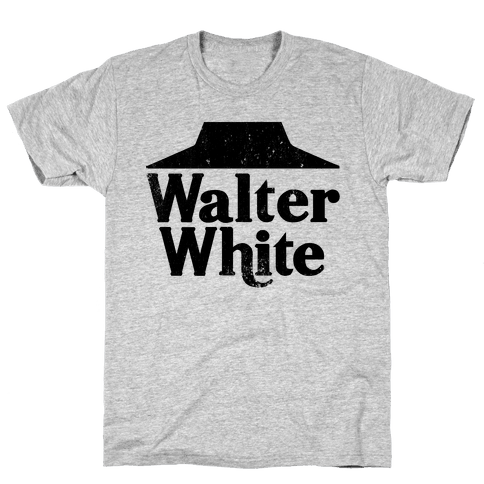 Walter White Roof Pizza Mens T-Shirt