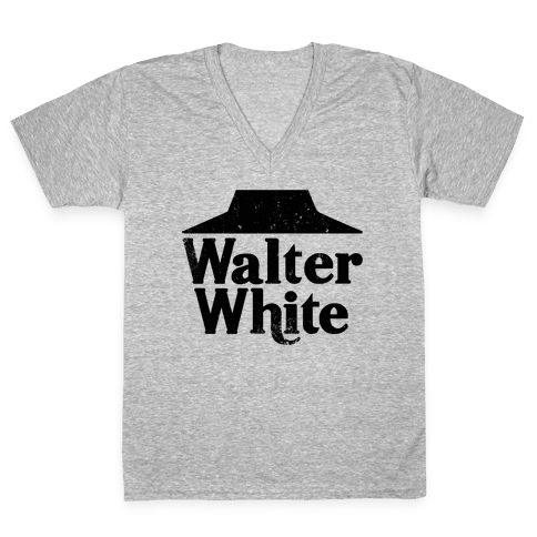 Walter White Roof Pizza V-Neck Tee Shirt