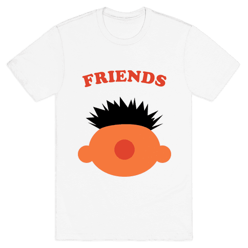 Best Friends (Orange) Mens T-Shirt
