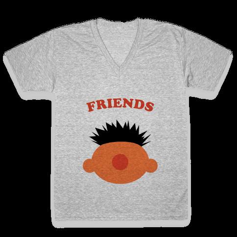 Best Friends (Orange) V-Neck Tee Shirt
