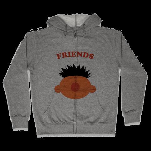 Best Friends (Orange) Zip Hoodie