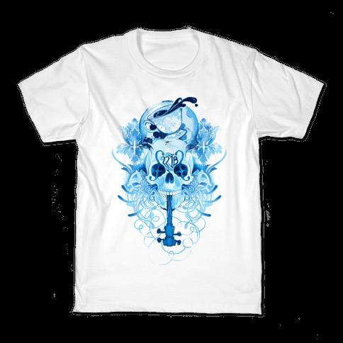 221B Watercolor Sherlock Skull Kids T-Shirt
