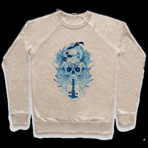 221B Watercolor Sherlock Skull Pullover