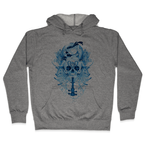 221B Watercolor Sherlock Skull Hooded Sweatshirt