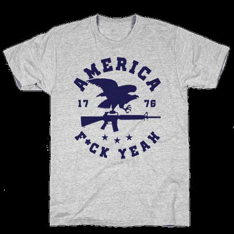 America F*ck Yeah Eagle Mens T-Shirt
