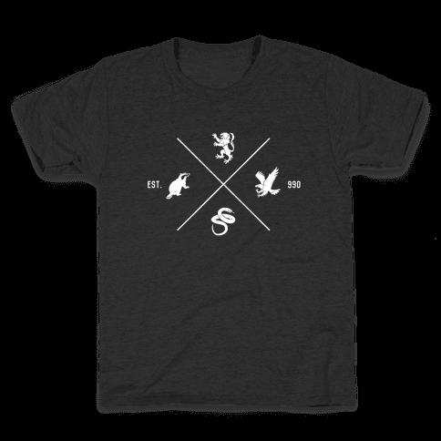 Hogwarts Minimal Crest Kids T-Shirt