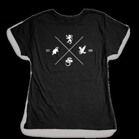 Hogwarts Minimal Crest Womens T-Shirt