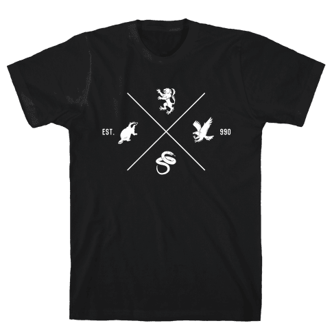Hogwarts Minimal Crest Mens T-Shirt