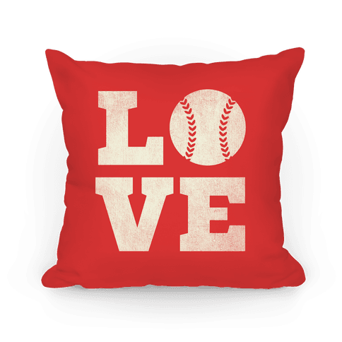 Love Baseball Pillow Pillow