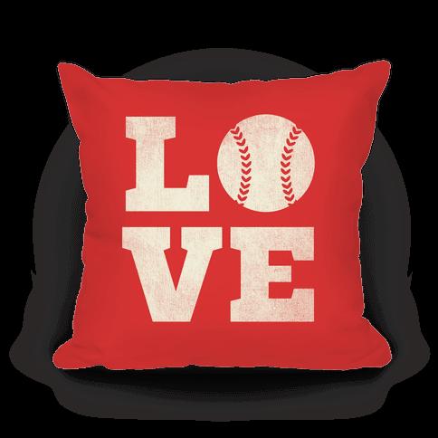 Love Baseball Pillow