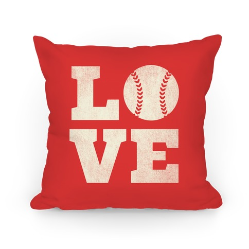 Love Baseball Pillow
