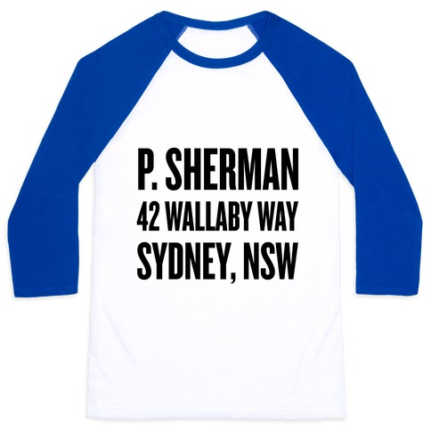 P. Sherman 42 Wallaby Way Sydney Baseball Tee