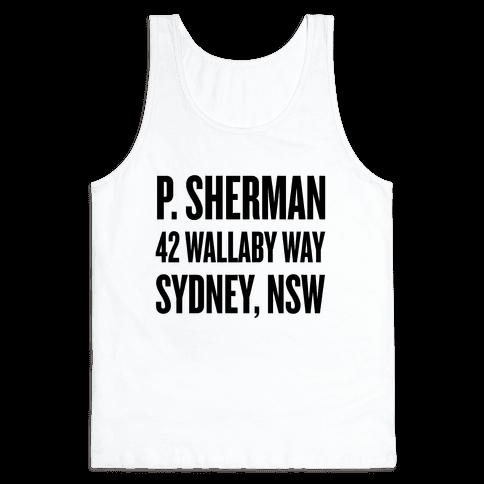 P. Sherman 42 Wallaby Way Sydney Tank Top