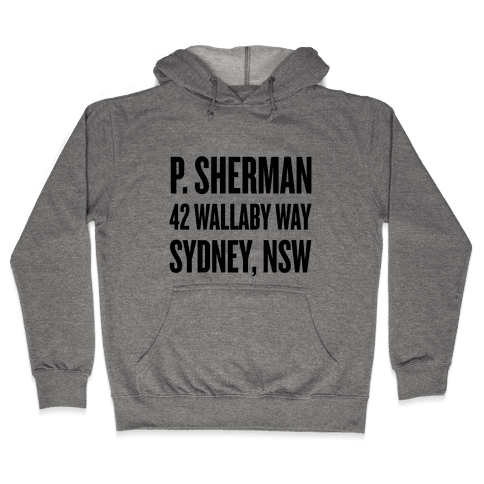 P. Sherman 42 Wallaby Way Sydney Hooded Sweatshirt