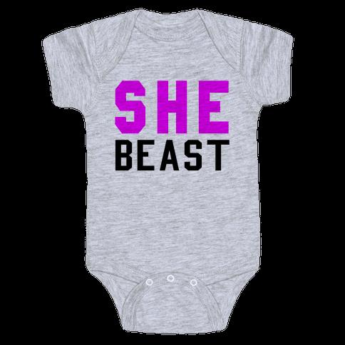 She Beast Baby Onesy