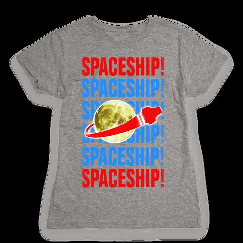 Spaceship! Womens T-Shirt