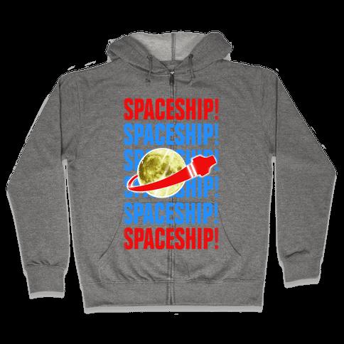 Spaceship! Zip Hoodie