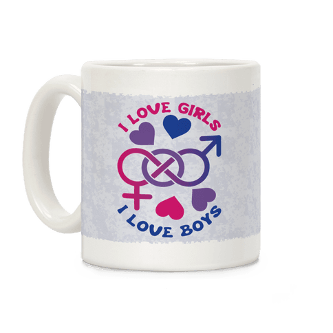I Love Girls I Love Boys Coffee Mug