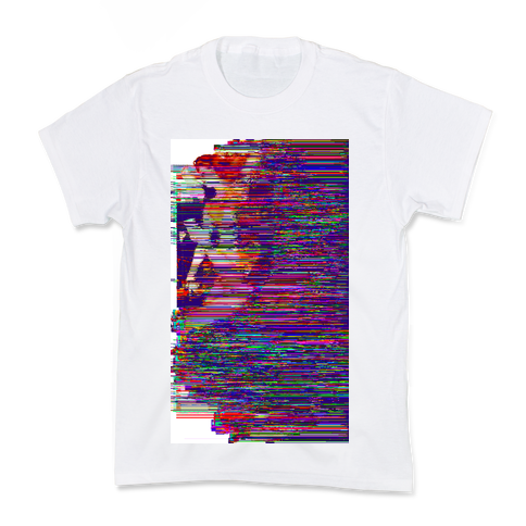 Glitch Art Pinup Kids T-Shirt