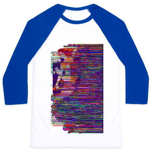 Glitch Art Pinup Baseball Tee