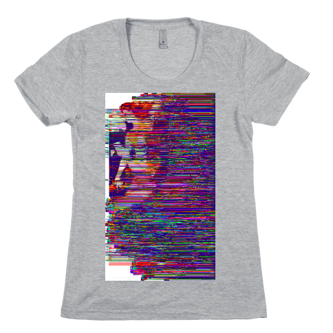 Glitch Art Pinup Womens T-Shirt