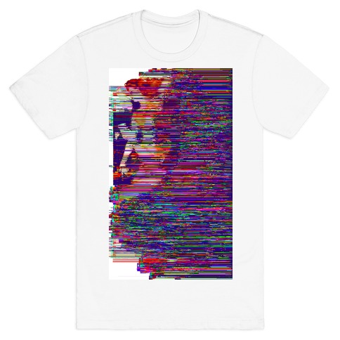 Glitch Art Pinup Mens T-Shirt