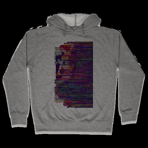Glitch Art Pinup Hooded Sweatshirt