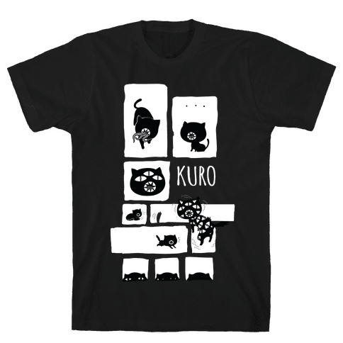 Kuro Cat Mens T-Shirt