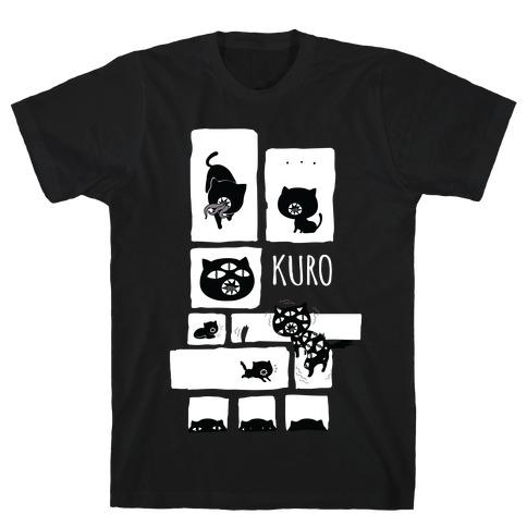 Kuro Cat Mens T-Shirt