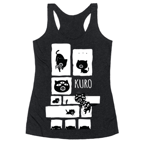 Kuro Cat Racerback Tank Top